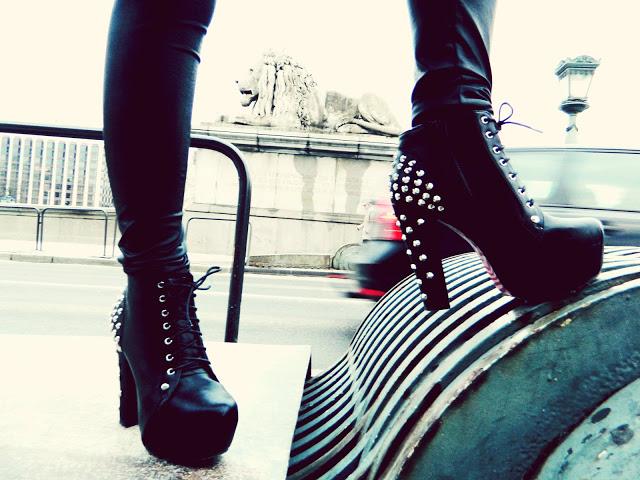 scarpe, dettagli, lita