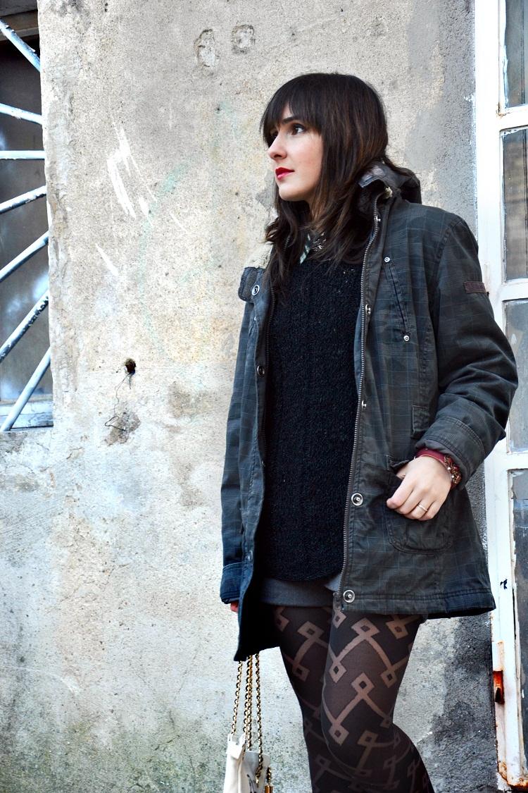 alessia cipolla, outfit, dans la valise, fashion blogger, parka