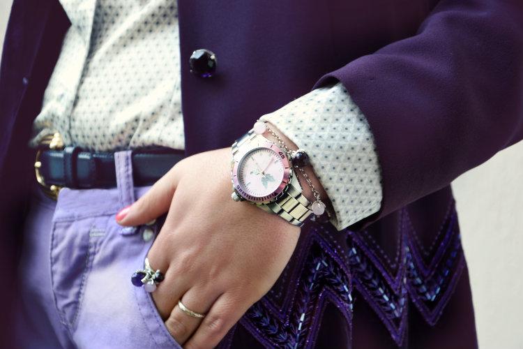 jack e co. Orologi, gioielli, gerardo sacco, 2 jewels, dettagli outfit, look, outfit, fashion blogger italiane, viola