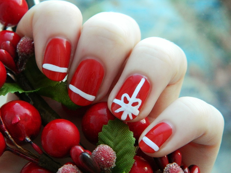 christmas-nail-art-simply-nice-christmas-nail-art-design-themes-with-red-color-and-white-tape-motif-as-a-christmas-gift-christmas-nail-art