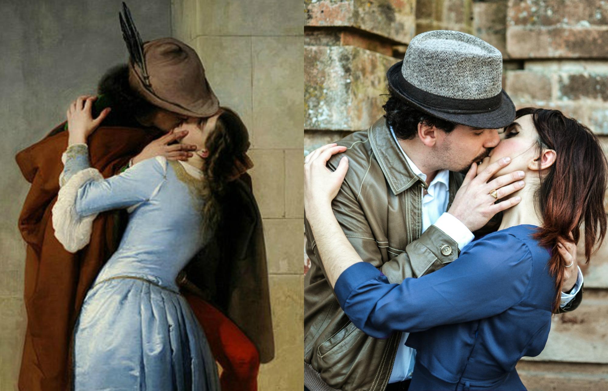 ispirato a...Il bacio - Hayez